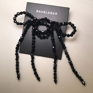 BaubleBar BOW DROP EARRINGS (Color Black)